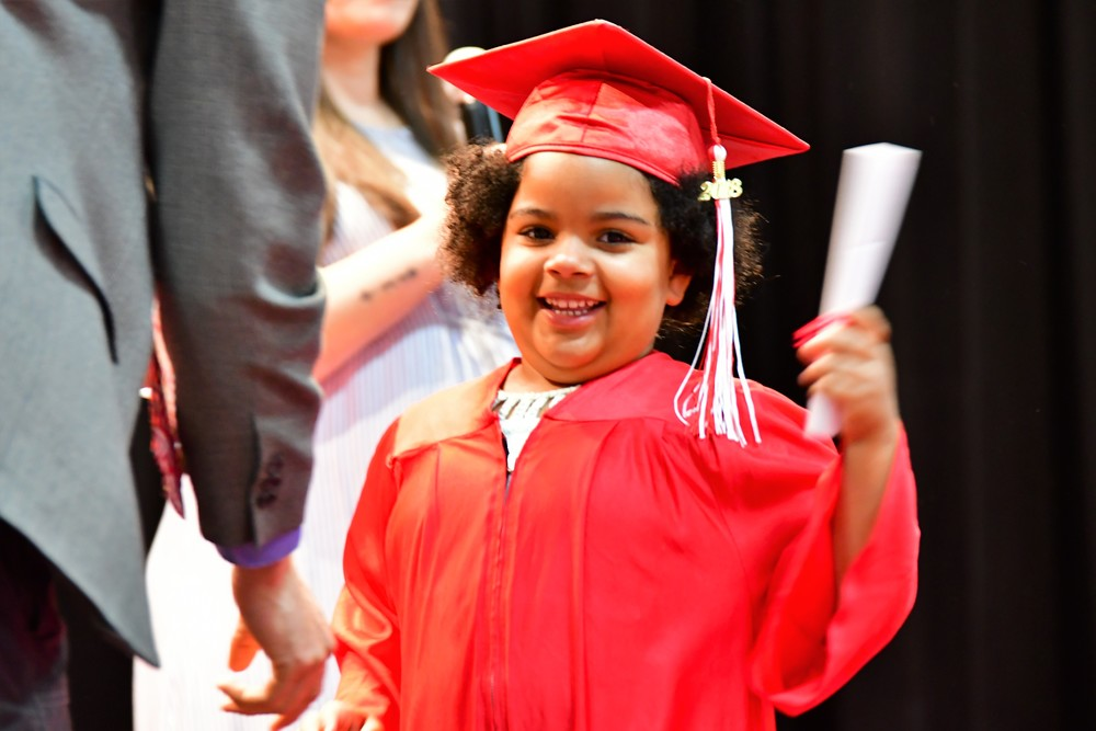 ONE STEP CLOSER TO COLLEGE!  KINDERGARTNERS GRADUATE!
