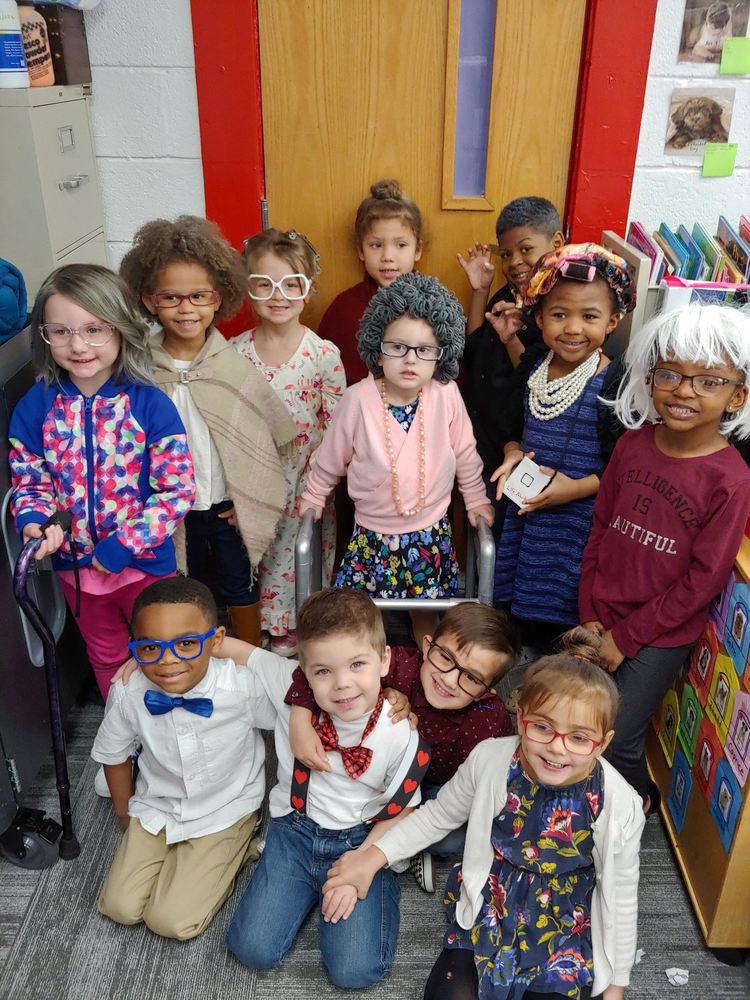 Pre K on the 100th Day of School