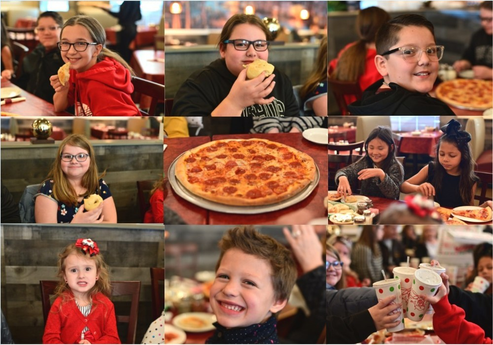 TOP FUNDRAISER SELLERS ENJOYING PIZZA!