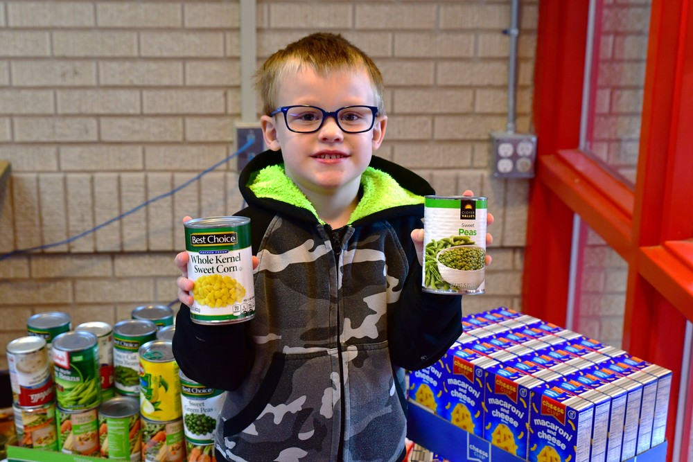 LAWTON FOOD BANK DRIVE BULLDOGS COLLECTED